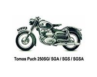 Tomos Puch 250 SG/SGA/SG/SGSA