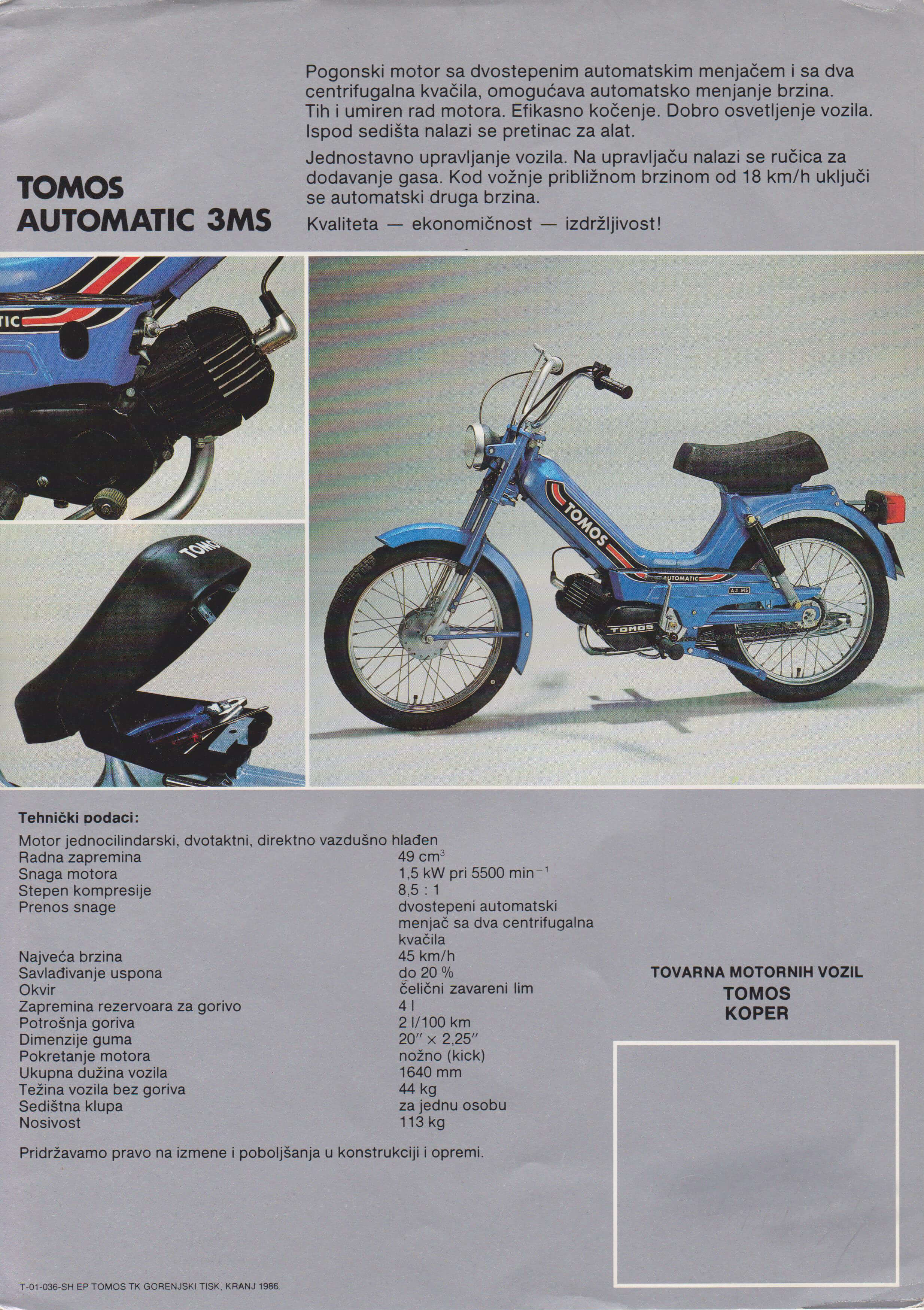 tomos automatic 3ms 1